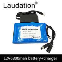 18650 Li-Ion batterie Portable batterie Rechargeable cc 12 V 12.6 V 6800 mAh batterie/12.6 V batterie + 12.6V1A chargeur