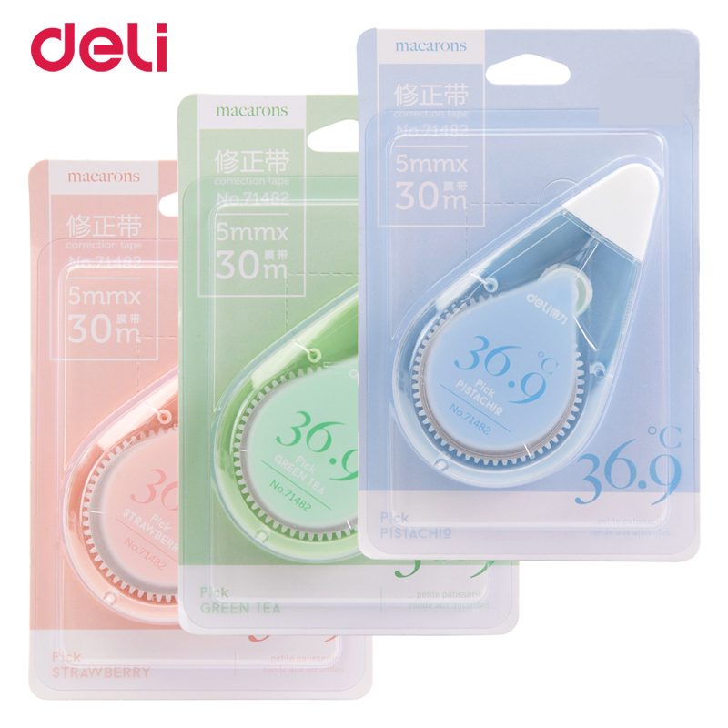 Deli 30M Lenth Kawaii Correction Tape Correction Roller Multifunctional School Supplies Safe For Student Office