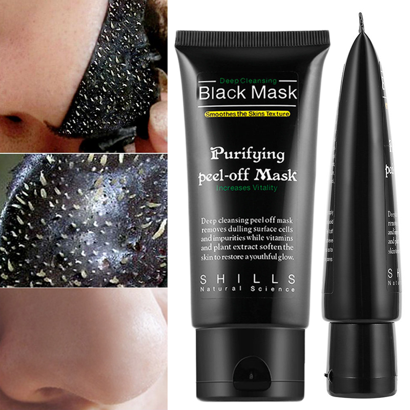 Bamboo Charcoal Blackhead Remover Nose Black Mask Purifying Charcoal Black Mud Face Care Mud Acne Treatment Face Mask TSLM1