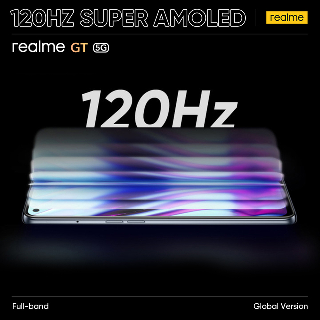 [Global Version] realme GT Snapdragon 888 5G 65W Flash Charge 120Hz Super AMOLED Play Store NFC Multi Language RMX2202 6