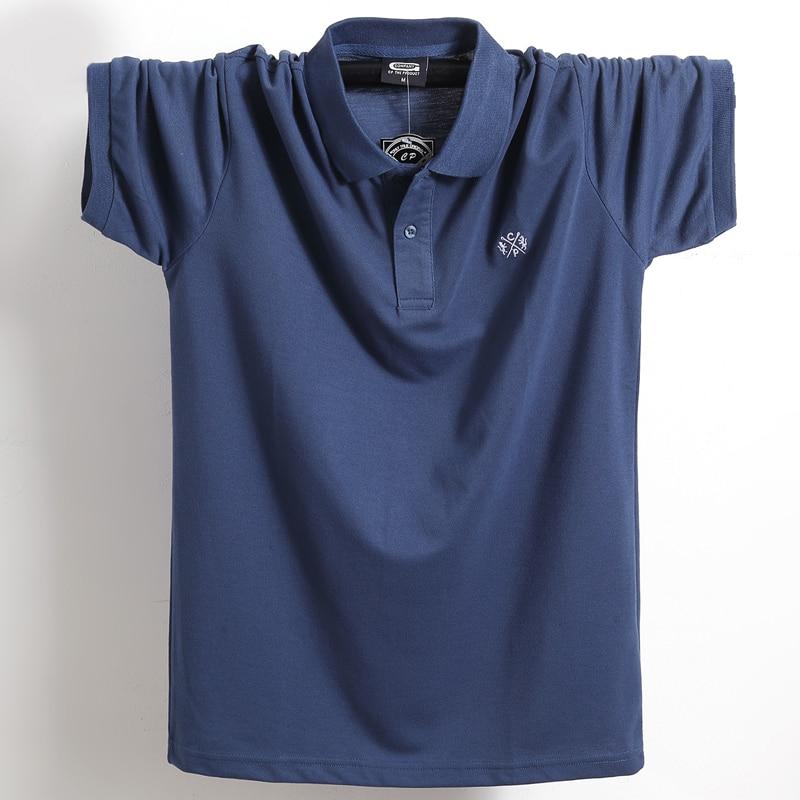 Summer Men Polo Shirt Brand Clothing Pure Cotton Men Business Casual Male Polo Shirt Short Sleeve Breathable Soft Polo Shirt 5XL 11