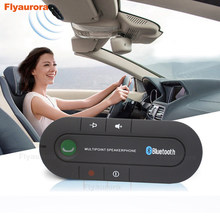 Car Visor On-board Bluetooth Car Kit MP3 Music Player Multipoint Speaker Phone 4.1 Wireless Handsfree for Earphone Smartphones(China)