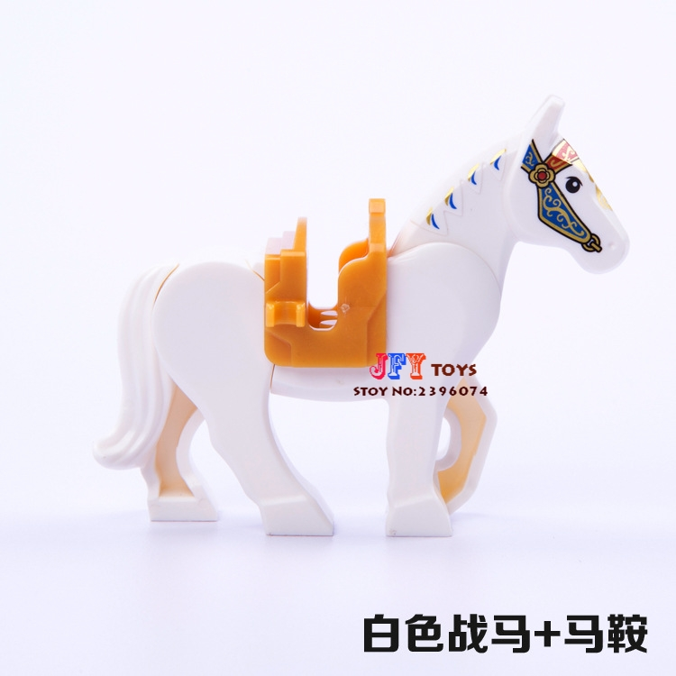 Single Sale Superhero Decool White War Horse Building Blocks Model Bricks Toys For Children Action Figures