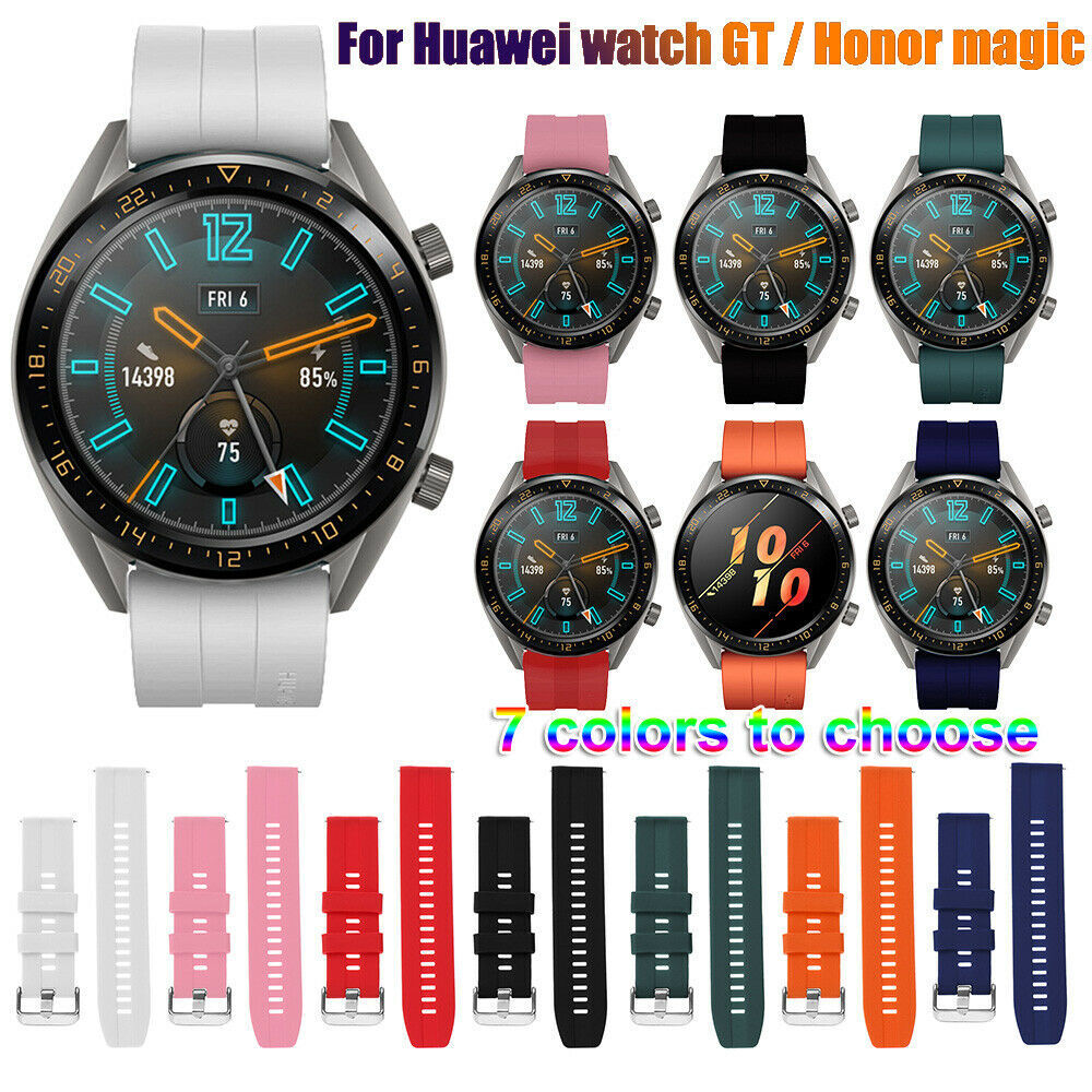 Huawei Watch GT 2 Strap Forsamsung Gear S3 Frontier Galaxy Watch 46mm Amazfit Bip Silicone 22mm Watch Band Bracelet Ative2 46mm