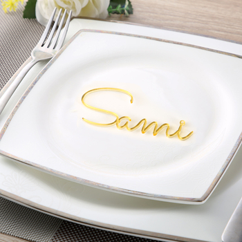 Personalized wedding place table cards Laser cut names Guest names Weddings place card name signs Place settings Bride and Groom 120pcs lot laser cut humming bird shaped table name place card escort card wine glass card wedding baby shower decoration wd108