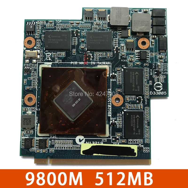 69N0BBV10B01-B01 69N0BBV10A03-A03 08G2015GT21I 9800M GS G94-655-B1 9800M Video VGA Card For Asus G60VX G51VX G50VT G50V