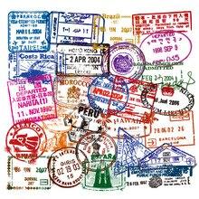 50pcs Graffiti Stickers Transparent Postmark Travel Retro Stickers Snowboard Guitar Skateboard