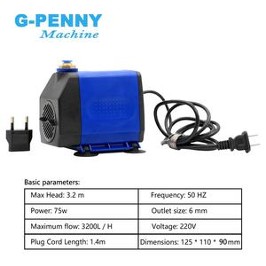 Image 4 - 1.5KW מים מקורר ציר מנוע ER16 4 מסבים 80x220mm & 1.5kw VFD/מהפך & 80mm ציר סוגר & 75w משאבת מים