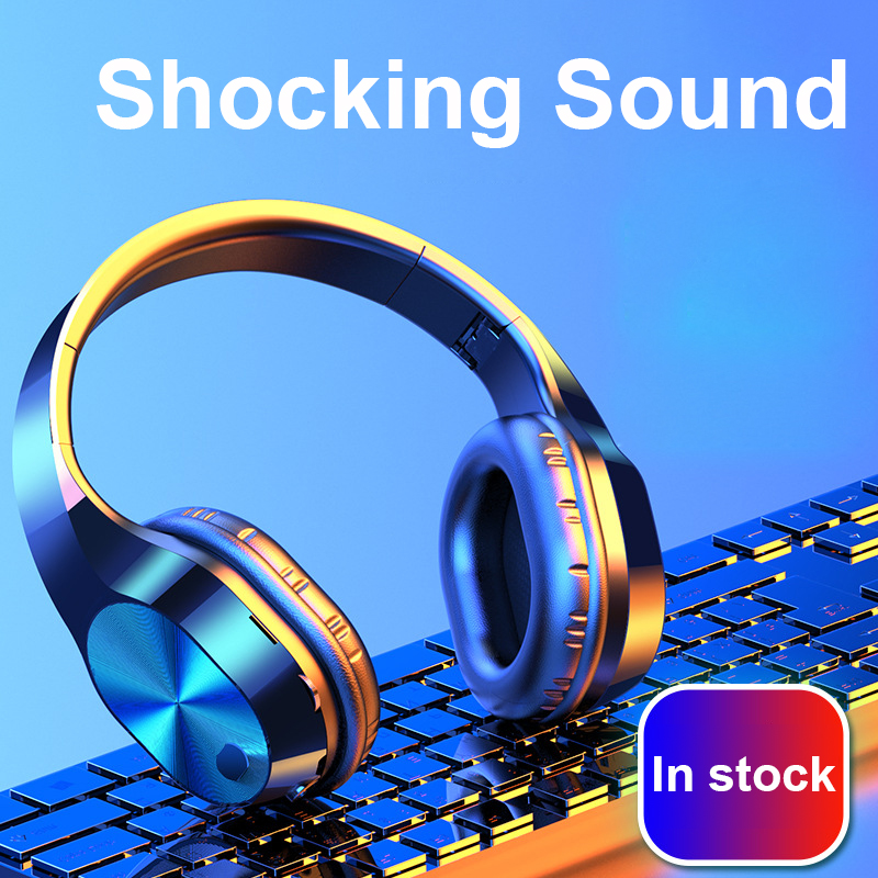 <font><b>Gaming</b></font> Headphones 9D Stereo <font><b>Earphones</b></font> Retractable Fold Bluetooth Headset <font><b>With</b></font> <font><b>Microphone</b></font> For Laptop/PC Tablet Gamer image