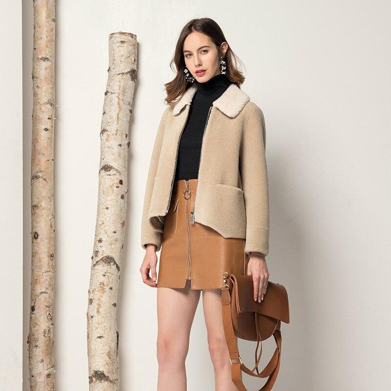 Winter Coat Women Real Fur Coat Women Korean Warm Wool Jacket For Womens Clothing Abrigos Mujer Invierno 2020 F9602 YY1027