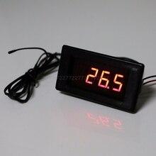 12 В постоянного тока термометр 60 ~ 125 градусов с функцией высокотемпературной сигнализации точный термометр B3950 10K датчик Au13 19