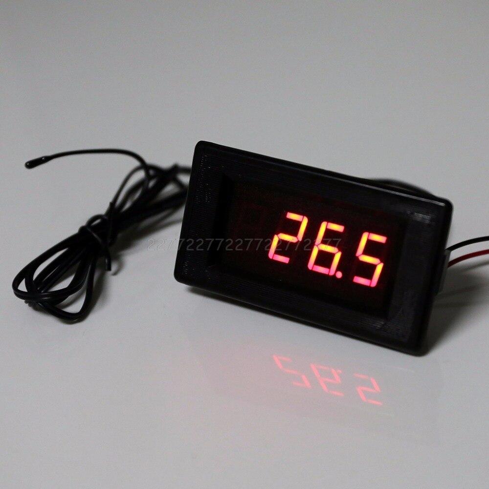 DC 12V thermomètre-60 ~ 125 degrés avec haute et comment fonction d'alarme de température thermomètre de précision capteur de B3950-10K Au13 19