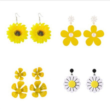 Korean Style Cute Flower Stud Earrings for Women 2019 New Fashion Sweet Wholesale Jewelry