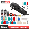 SPTA 3inch Electric Car Detail Polisher 110/230V Polishing Machine M14 Thread Auto Mini Polisher Car Polish Tool Buffing Machine
