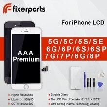 עבור iphone 6 6S 6SPlus 7 8 7/8 בתוספת lcd מסך תצוגת AAA LCD מסך מגע החלפת עצרת עבור iPhone 5 5S 5C SE lcd