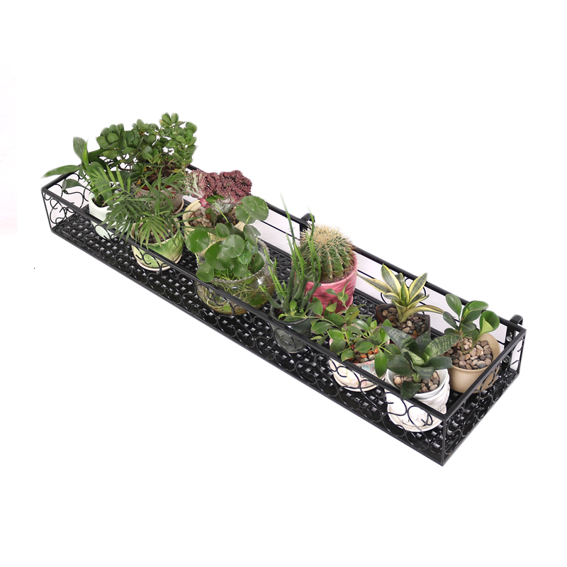Windowsill Shelf Windowsill Hanging Type Flower Rack Window Flowerpot Frame Indoor Flower Airs Iron Art Balcony Railing Pylons