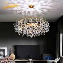 Nordic Luxus Gold Kristall Kronleuchter Beleuchtung Moderne Große Lustre Hängen Lampe für Wohnzimmer Hotel Halle Kunst Decor Beleuchtung