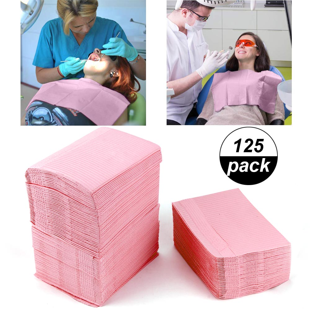 5/125Pcs Dentist Oral Hygiene Medical Paper Scarf Tattoo Bib Cleaning Disposable Water-resistant Scarf Dental Material Paper