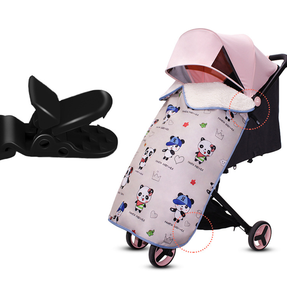 Cartoon Print Cloak Baby Blanket Windproof Unisex Warm Waterproof Accessories Rainproof Winter Carrier Stroller Cover Foot Muff