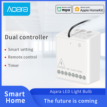 Aqara חכם שני דרך בקרת מודול Zigbee אלחוטי ממסר מרחוק בקר אור מתג לעבוד עם Xiaomi Mi בית HomeKit APP