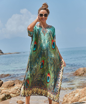 Easy Dry Beach Cover up Robe Plage Vestido Playa Beach Pareo Swimsuit cover up Beachwear Plus size Bathing suit Women Maxi Dress 1