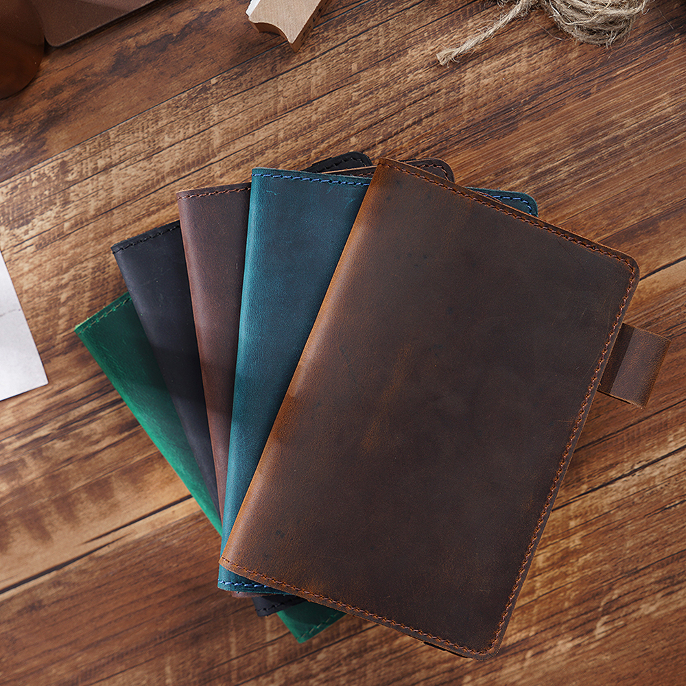 Field Notes Cover Daily Carry Memo Book Genuine Leather Notebook Planner Card Holder Pocket Vintage Stationery