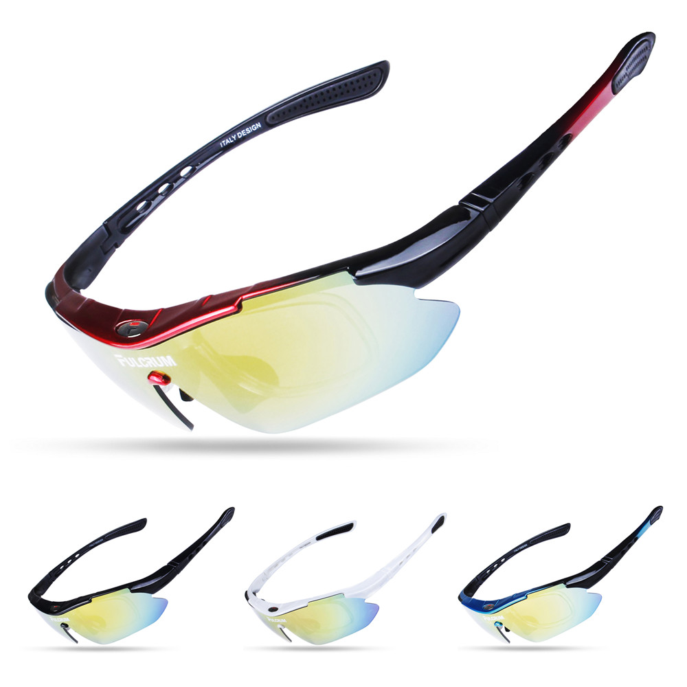 Купить с кэшбэком Polarized Cycling Glasses Sports men's bike cycling Sunglasses MTB Bicycle 100% UV400 Protection Goggles Eyewear 5 Lenses oculos