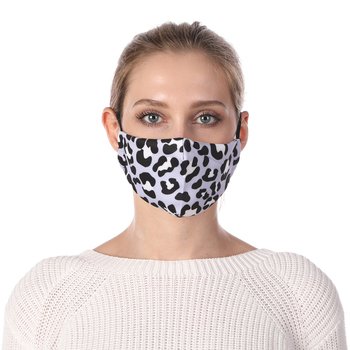 Leopard print Printing Face Mask Reusable Protective PM2.5 Filter Mouth Mask Anti Dust Mask Windproof Face Masks Face Masks