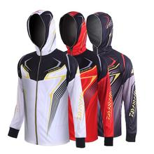 2020 New Arrival Men Fishing Clothing Long Sleeve Summer Breathable Hooded Fishing Clothes Quick Dry Fishing Shirts