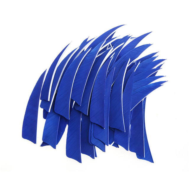 Details about  /50Pcs 4 inch Shield Shape Turkey Feather Arrow Archery Hunting Fletching for DIY