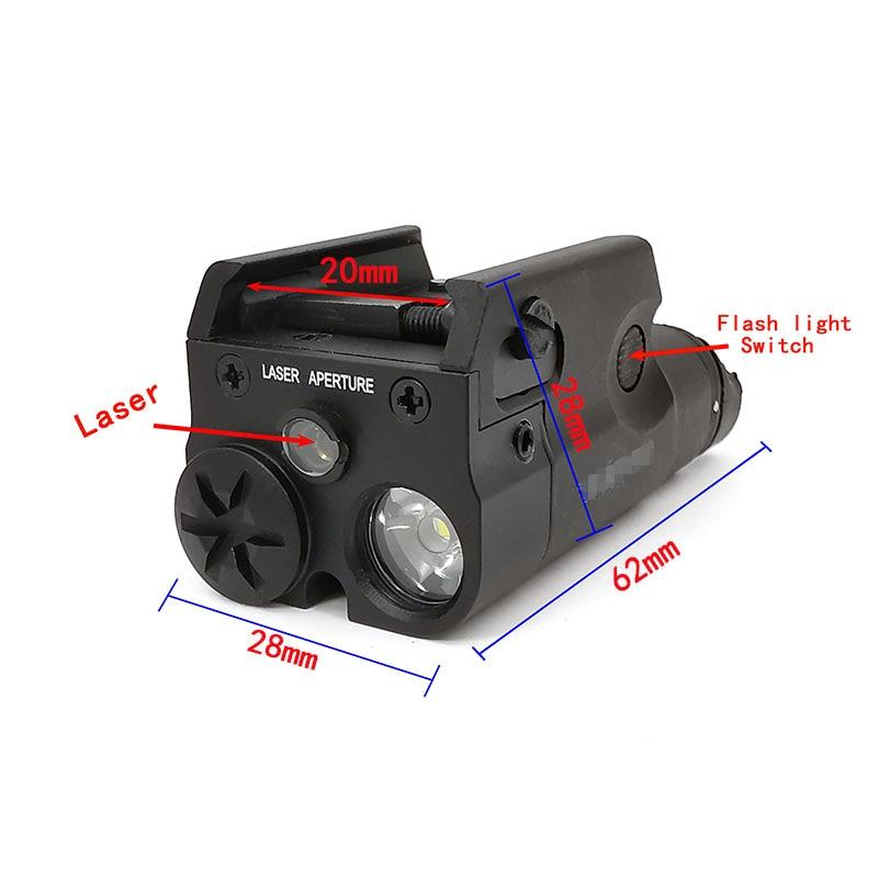 Tactical SF High Red dot Laser Pistol Gun Light Weapon Light Flashlight MINI LED White Hunting Airsoft For GLOCK 20mm-3