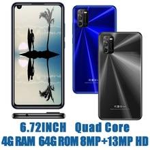 A30 6.72 polegada global smartphones 4g ram + 64g rom quad core 8mp + 13mp câmera frontal/traseira android 6.0 telefones celulares celuares desbloqueado
