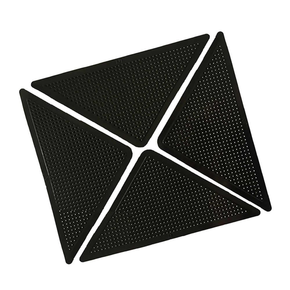 4 stücke Wiederverwendbare Waschbar Silikon Grip Rutsch Aufkleber Anti-rutsch Bad Teppiche und Matte Set Bad Matte Set Teppich Teppich matte Greifer