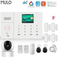 MULO 4G 3G Sicherheit Alarm Systeme für Home mit Smart Motion Detektor und Tür Sensor PG108