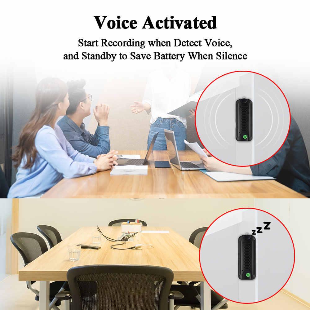 MiNi grabadora de voz espía activada tarjeta SD de 8GB 3 meses de tiempo de espera grabación de Audio nueva electrónica de coche LED antorcha Digital