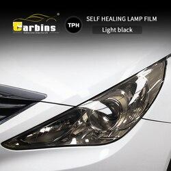 CARBINS бумагорез PPF Headligt пленка Дым Черный Оттенок пленка для автомобилей Светодиодный Защита от царапин супер прозрачная 4 цвета распродажа