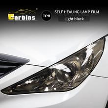 CARBINS עצמי ריפוי PPF Headligt סרט עשן שחור גוון סרט עבור מכוניות LED הגנה אנטי סריטות סופר ברור 4 צבעים מכירה