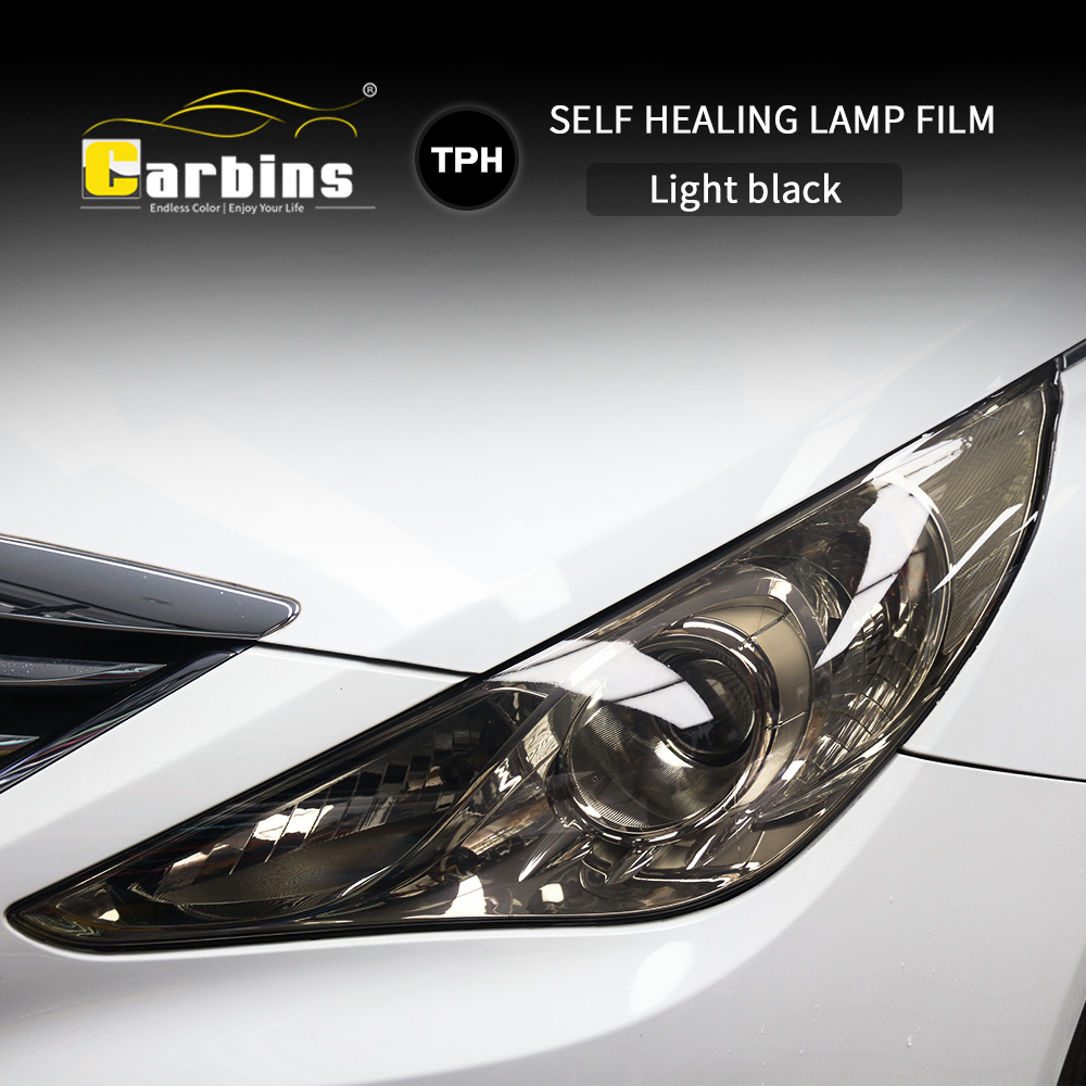 Image 2 - CARBINS Self healing PPF Headligt Film Smoke Black Tint Film for Cars LED  Protection Anti Scratches Super Clear 4 Colors sale-in Car Stickers from Automobiles & Motorcycles