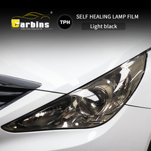 CARBINS Self healing PPF Headligt Film Smoke Black Tint Film for Cars LED  Protection Anti Scratches Super Clear 4 Colors sale