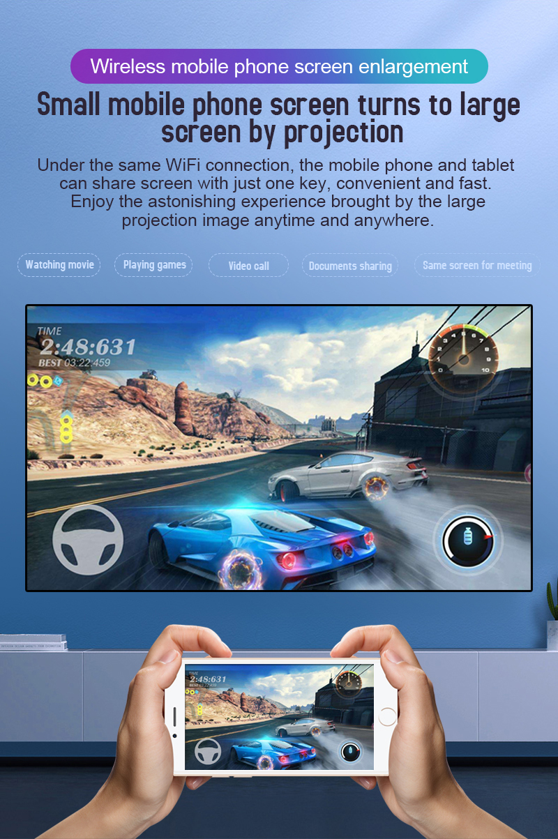 Alston c99 mini dlp android projetor wifi bluetooth 5.0 portátil led projetor de vídeo cinema em casa apoio miracast airplay-2