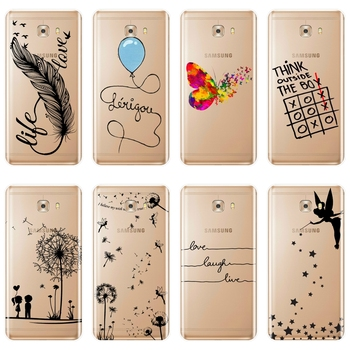 Phone Case For Samsung Galaxy C5 C7 C9 Pro Soft Silicone Quote Tinker Bell Laugh Life Back Cover For Samsung Galaxy C5 C7 C8 image