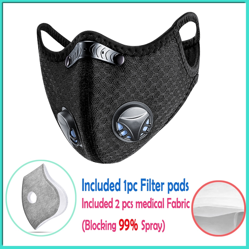 Cycling Sport Outdoor Anti-dust PM2.5 Mask Reusable Washable Face Smoke Mask Filter Anti Fog And Dust Mouth Mask Protective
