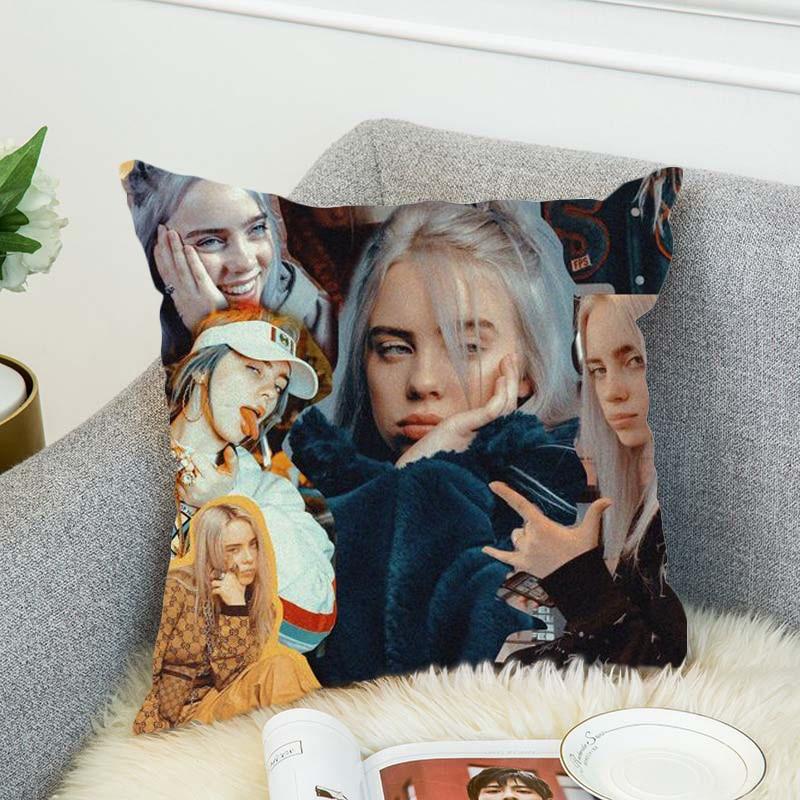 Billie Eilish Pillow Case Polyester Decorative Pillowcases Throw Pillow Cover Style-2