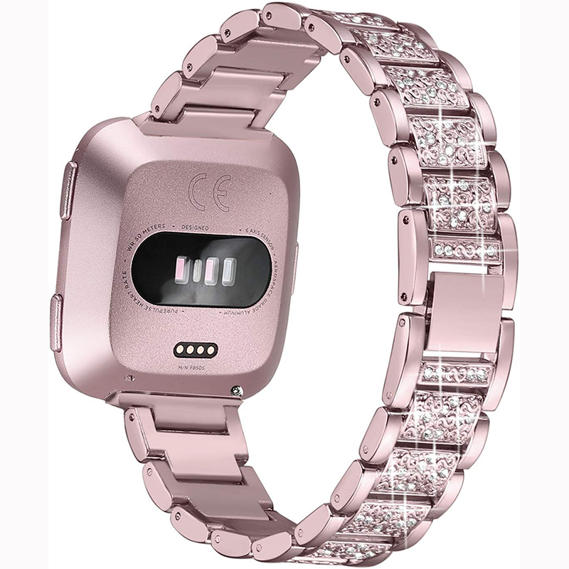 Bling Diamond Watch Band For Fitbit Versa 2 Stainless Steel Strap Women Wrist Bracelet For Fitbit Lite/verse 2 Band Accessories