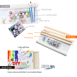 Keine Rahmen Wolf Tiere DIY Malerei Durch Zahlen Kits Malen Auf Leinwand Acryl Färbung Painitng Durch Zahlen Für Home Wand decor