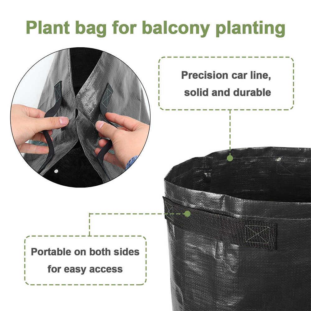 Planting Potato Grow Bags Waterproof PE Gardening Vegetable Planter 10 Gallon
