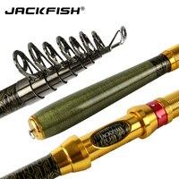 JACKFISH Carp wędka spinningowa 99% Carbon przenośny teleskopowy wędka Spinning Fish Hand Fishing Tackle krótki wędka morska w Wędki od Sport i rozrywka na