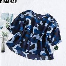 DIMANAF Summer Plus Size Women Blouse Shirt