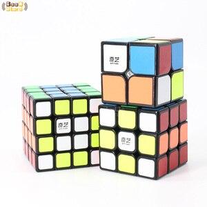 Image 4 - Qiyi 2x2 3x3 4x4 5x5 Magic Cube QiyuanS QizhengS Speed Cube Puzzle WarriorW Qidi Black Stickerless 3pcs 4pcs/Set Educational Toy