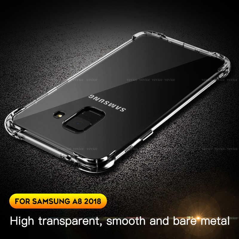 Sang Trọng Trong Suốt Ốp Silicone Dành Cho Samsung Galaxy Samsung Galaxy A9 A8 A7 A750 2018 Chống Rơi Túi Khí Dành Cho Samsung A6plus a8plus Mềm TPU
